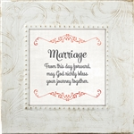 Marriage Touch of Vintage White frame Tabletop Christian Verses - 7 x 7
