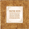 Pastor's Wife Touch of Vintage Gold frame Tabletop Christian Verses - 7 x 7