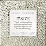 Pastor Touch of Vintage Silver frame Tabletop Christian Verses - 7 x 7