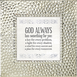 God Always Touch of Vintage Silver frame Tabletop Christian Verses - 7 x 7
