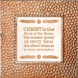 Christ/Home Touch of Vintage Copper frame Tabletop Christian Verses - 7 x 7