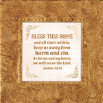 Joshua 24:15 Touch of Vintage Gold frame Tabletop Christian Verses - 7 x 7