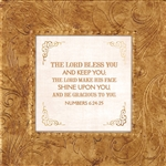 Numbers 6:24-25 Touch of Vintage Gold frame Tabletop Christian Verses - 7 x 7