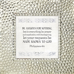 Philippians 4:6 Touch of Vintage Silver frame Tabletop Christian Verses - 7 x 7