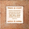 Isaiah 40:31 Touch of Vintage Copper frame Tabletop Christian Verses - 7 x 7