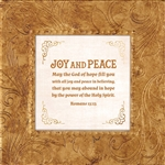 Romans 15:13 Touch of Vintage Gold frame Tabletop Christian Verses - 7 x 7