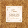 Psalm 23:1-3 Touch of Vintage Gold frame Tabletop Christian Verses - 7 x 7