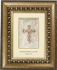 Matthew 19:26 Shimmering Faith Crosses Gold frame Tabletop Christian Verses - 8x 10