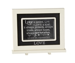 Love Chalkboard Messages frame Tabletop Christian Verses - 9 x 7