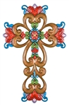 "Faith, Family & Friends Wall Cross - 14.5"" H"