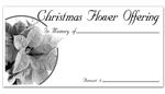 Christmas Flower offering Envelope