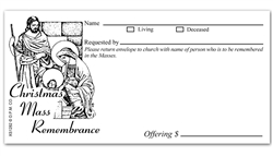 Christmas Mass Remembrance Offering Envelope