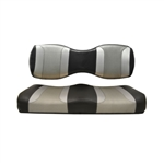 Tsunami Blk/Silver Rear Seat Covers for Madjax 250/300