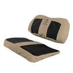 Neoprene Paneled Golf Cart Seat Cover - Tan/Blk