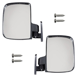 UTV Style Side Mount Golf Cart Mirror - Set of 2