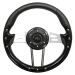"13"" Aviator 4 Black / Aluminum Steering Wheel"