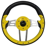 "13"" Aviator 4 Yellow / Black Steering Wheel"