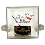 30A Square Charger Ammeter Gauge