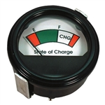 Round 36V Analog Charge Meter