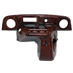 Woodgrain Deluxe Dash w/ Radio/Speaker Cutouts for E-Z-GO TXT