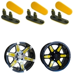 "Yellow Wheel Inserts for 12"" RX250/RX252 Wheels"