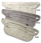 Anne Mcalpin Silk Money Belt Silver