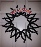 Bonnies Horseshoe Welcome Wreath
