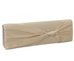 Coloriffics HB210 Satin Clutch With Knot Latte