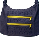 31 Corn Lane Squiggle Stitch Mini Bag Black