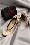 The Cherry Brand Fold Up Ballet Flats Champagne Small