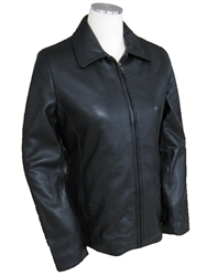 lambskin zippered jacket