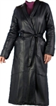 full length lambskin wrap coat