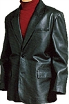 lambskin 2-button blazer