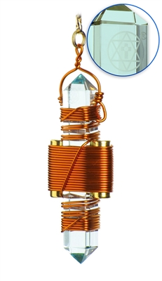 "Buddha Maitreya the Christ 2.5"" Aqua Siberian Quartz Etheric Weaver in Copper"