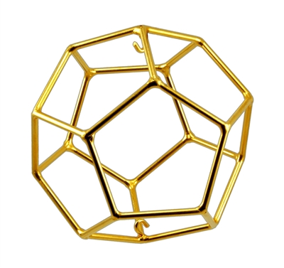 Buddha Maitreya the Christ - Small 24K Goldplated Dodecahedron