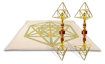 Archangel Metatrons Cube Mat with Deva Vajras