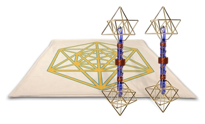 Archangel Metatrons Cube Mat with Earth Vajras