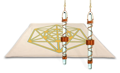 Archangel Metatrons Cube Mat with Etheric Weavers