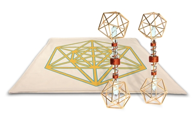 Archangel Metatrons Cube Mat with Metatron Vajras