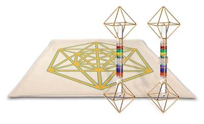 Archangel Metatrons Cube Mat with Solar Vajras