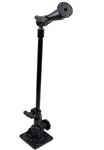 Universal Drill Down Pivot Base with 18 Inch Post and Double Ball Socket Arm for Electronic Devices