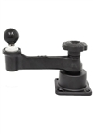 Universal Horizontal Mount with Straight Swing Arm and 1.5 Inch Diameter Ball