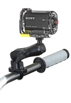 Handlebar Mount with Zinc U-Bolt (Fits .5 to 1.25 Dia.), Standard Sized Length Arm and RAP-B-379U-252025 Video Camera Adapter (Common Use Sony Action Cam)