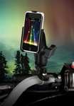 Handlebar Mount with Zinc U-Bolt (Fits .5 to 1.25 Dia.), Standard Sized Length Arm and Apple RAM-HOL-AP7U Holder (iPod Touch 2nd & 3rd Gen WITHOUT Case or Cover)