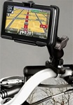 Handlebar Mount with Zinc U-Bolt (Fits .5 to 1.25 Dia.), Standard Sized Length Arm & TomTom RAM-HOL-TO11U Holder for Selected GO 2535 Series
