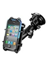 "Single 3.25"" Dia. Suctio n Cup Base with Twist Lock, Aluminum Standard Length Sized Arm and RAM-HOL-PD3U Universal Top Clamping Cradle (Fits Device Width 2.25"" to 3.5"" Including Most Smartphones with Cover/Case iPhone, Droid, etc.)"