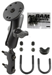 Brake/Clutch Assembly Mount or U-Bolt Handlebar Mount with Standard Sized Arm and Garmin G1 Hardware for Delphi Electronic Devices