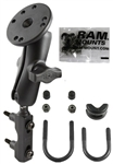 Brake/Clutch Assembly Mount or U-Bolt Handlebar Mount with Standard Sized Arm & RAM-B-202-G3U with Hardware for Garmin StreetPilot 7200 & 7500 Series