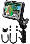 Brake/Clutch Assembly Mount or U-Bolt Handlebar Mount with Standard Sized Arm and Garmin RAM-HOL-GA25U Holder (Selected nuvi 200 WIDE & 465 Series)