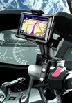 Brake/Clutch Assembly Mount or U-Bolt Handlebar Mount with Standard Sized Arm and Garmin RAM-HOL-GA37U Holder (Selected nuvi 1690 Series)